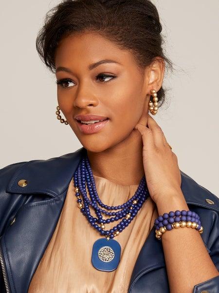 Multi Strand Collar Necklace-7 Colors