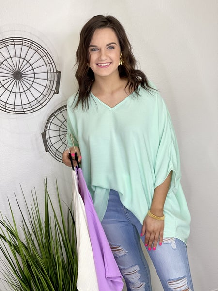 The Spring Breeze Poncho Top - 3 Colors