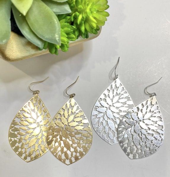Filigree Earrings-2 Metals