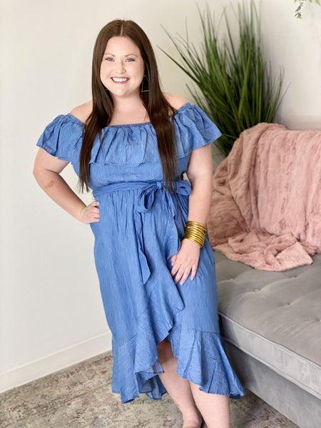 The Curvy Chambray Dress