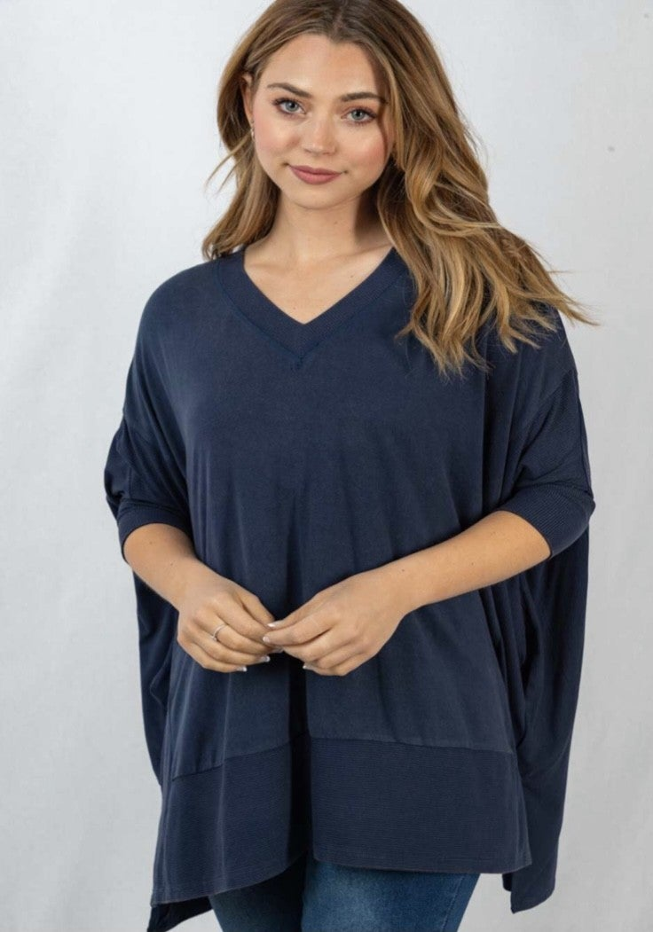 The Banded Birch Top in 3 Colors - All Sizes