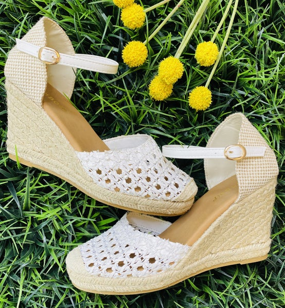 The Catalina Wedge in White