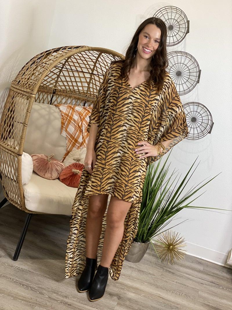The Sassy Tiger Hi Low Dress