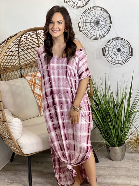 The Dyed Dreams Maxi in Wine