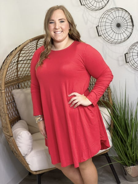 LD STEAL #34: CURVY LS TShirt Dress