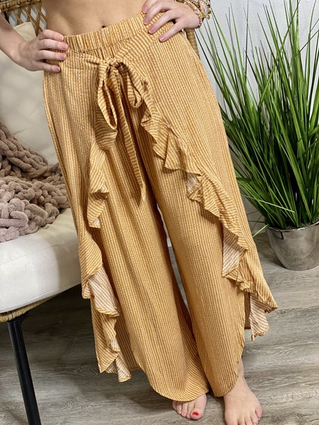 The Ruffle Around Town Pants - All Sizes