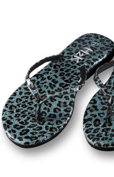 Turquoise Cheetah Flip Flop