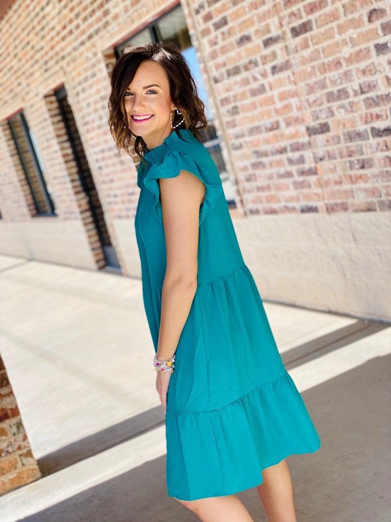 The Brianna Dress in Jade
