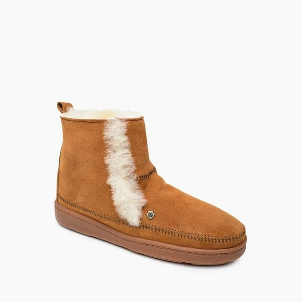 The Jade Sheepskin Boot in Brown