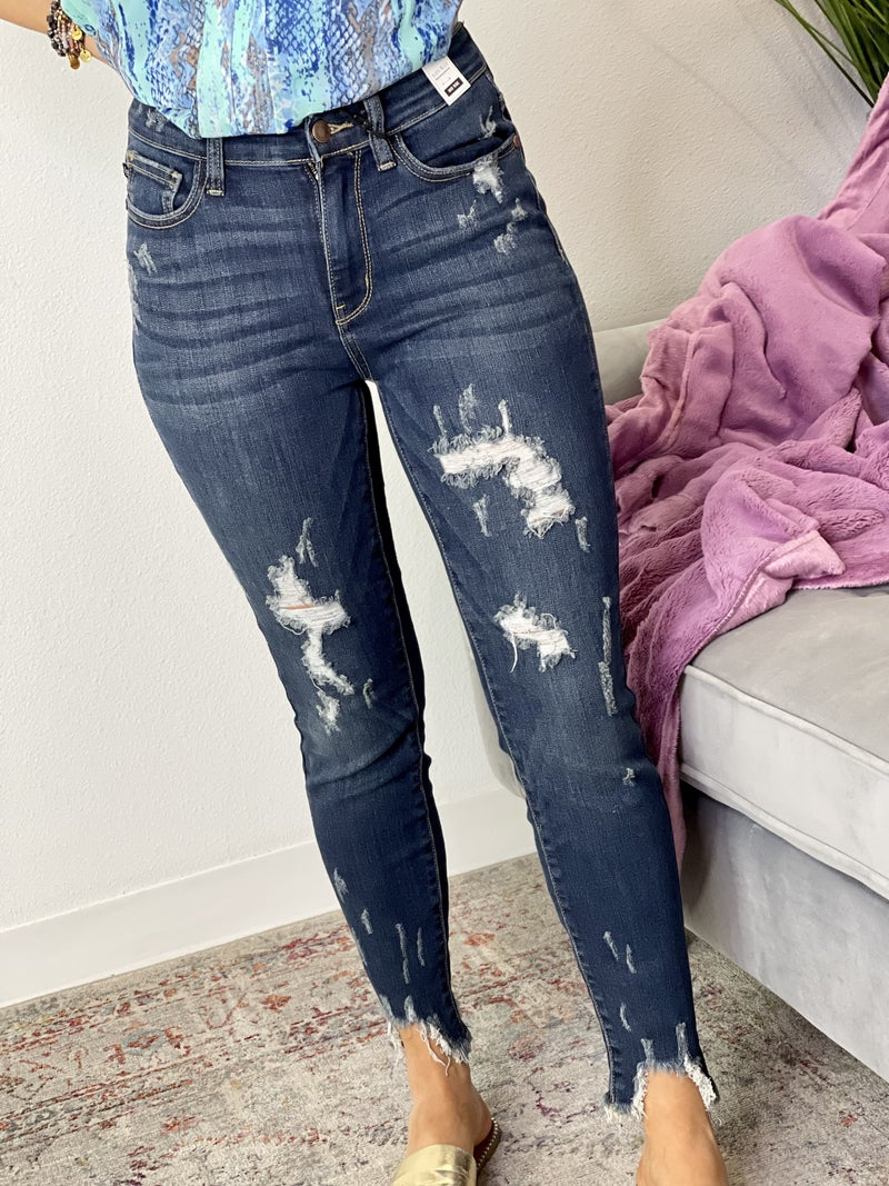 The Mid-Rise Destroyed Skinnies-All Sizes