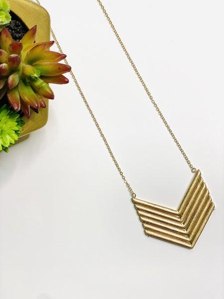 Surprise Steal-Wide V Necklace