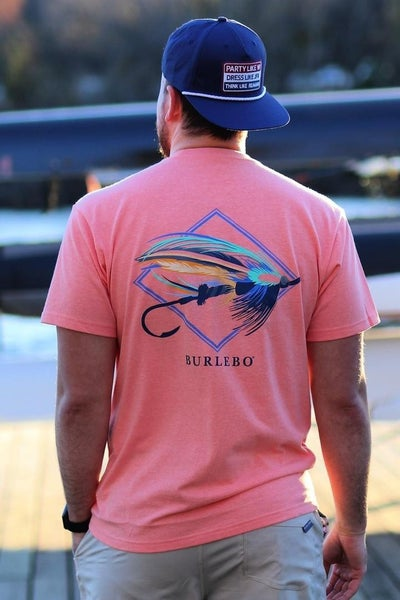 The Big Fly Tee in Coral