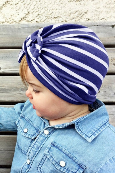 Striped Knot Turban-4 Colors