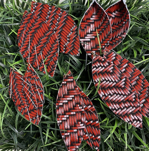 The Raider Basketweave Earrings
