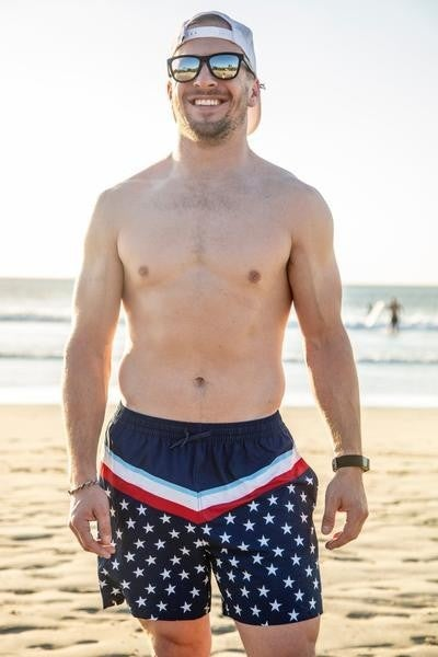 The Patriotic Swim Trunks