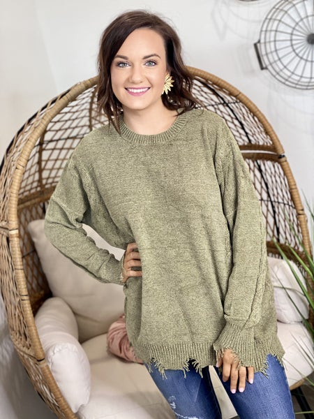The Nora Sweater in Olive