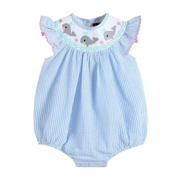Smocked Whale Romper