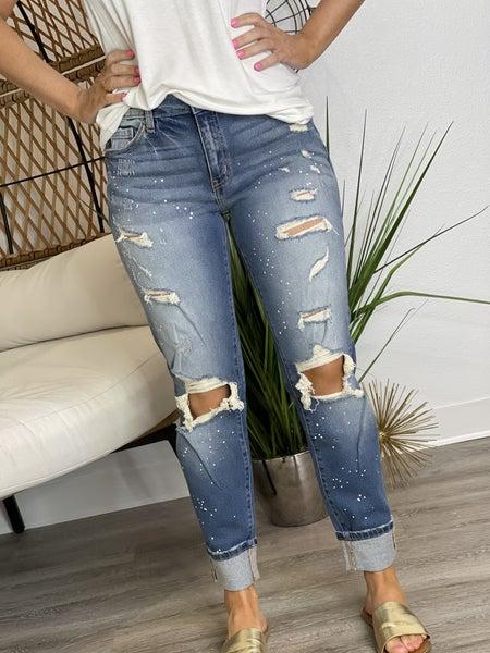 The Medium Wash Painter Jeans