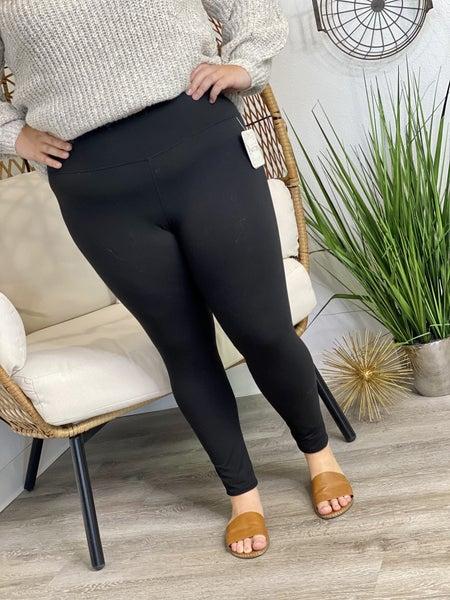 PF Steal #48 - Black Curvy Tummy Control Leggings