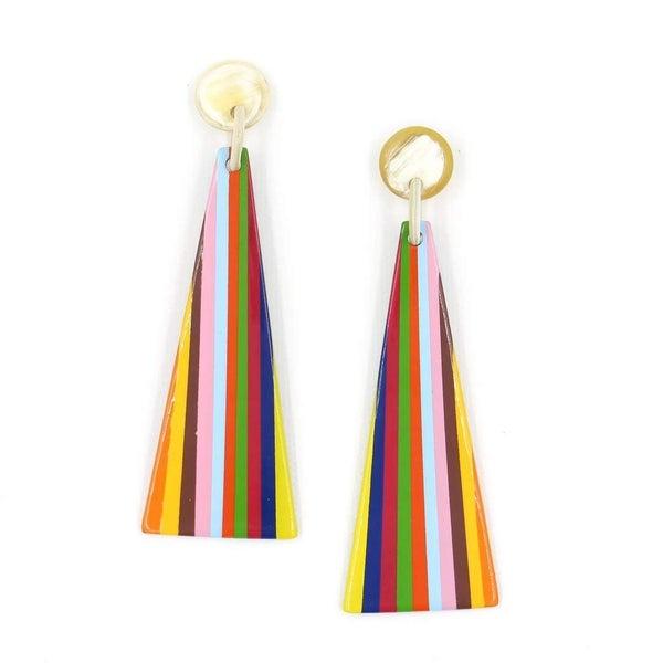 Rainbow Triangle Statement Earrings