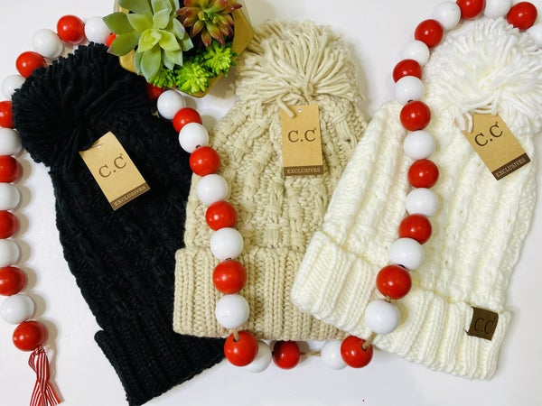 PF Steal #53 - The Cable Puff Beanie - 3 Colors