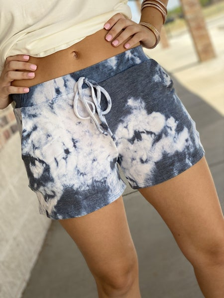 The Dyed Lounge Shorts in Blue
