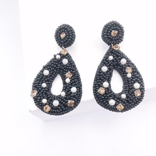 The Emily Black Earrings