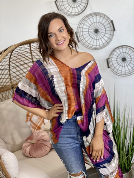 The Paintbrush Poncho Top