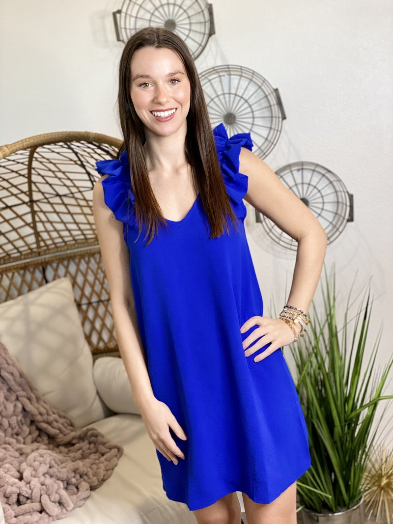 The Vibrant Cobalt Dress