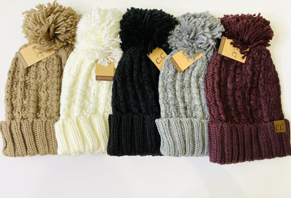 LD STEAL 51-Solid Cable Beanies