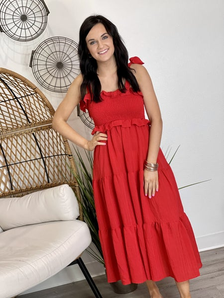 The Red Raven Dress