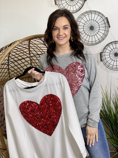 The Blinging Heart Pullover - 2 Colors