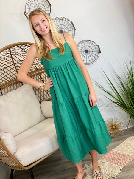 The Malibu Midi in Green