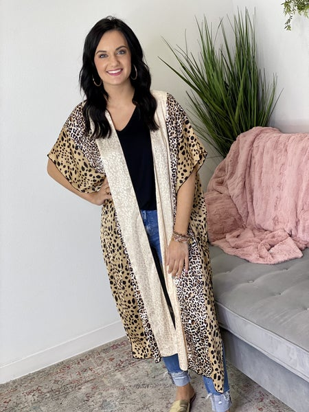 The Satin Safari Kimono - All Sizes
