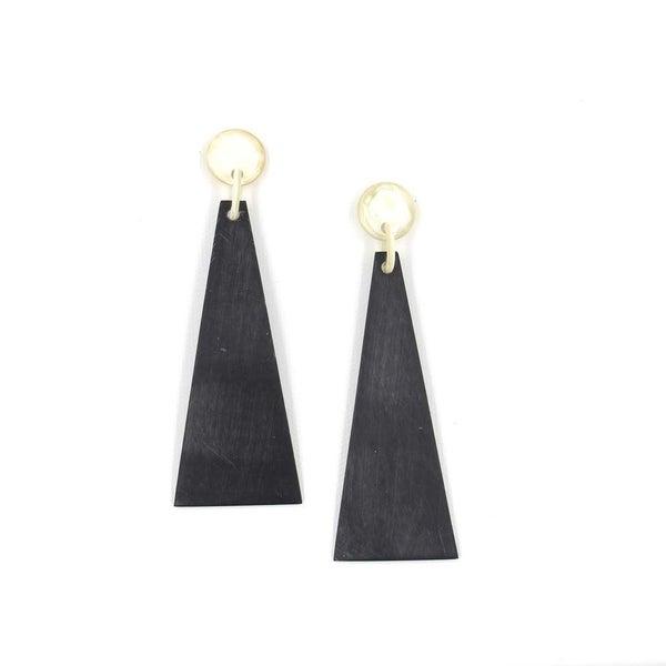 Matte Black Triangle Earrings
