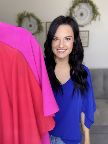 The Flutter Sleeve Top-3 Colors