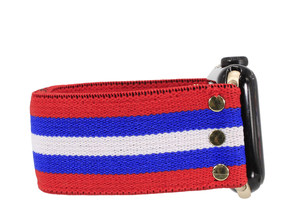 Erimish Red Blue Watch Band