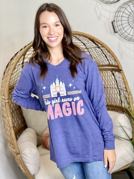 This Girl Runs On Magic LS Tee