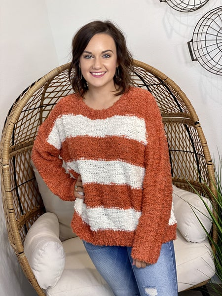 Pumpkin Striped Sweater