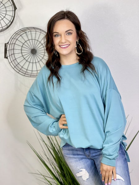 The Turquoise Tell It Pullover