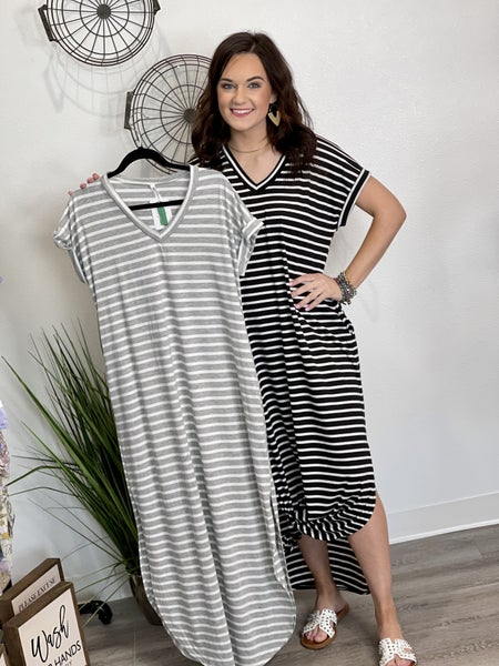 The Striped Dreams Maxi in All Sizes - 2 Colors