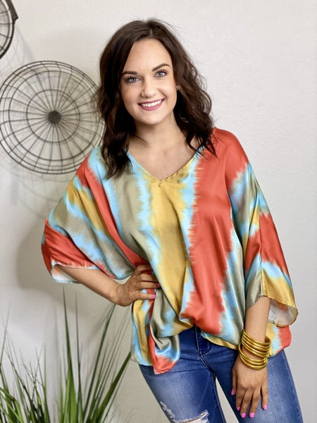 The Sunset Breeze Poncho Top