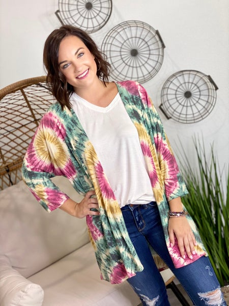 The Judy Cardigan in Green-All Sizes