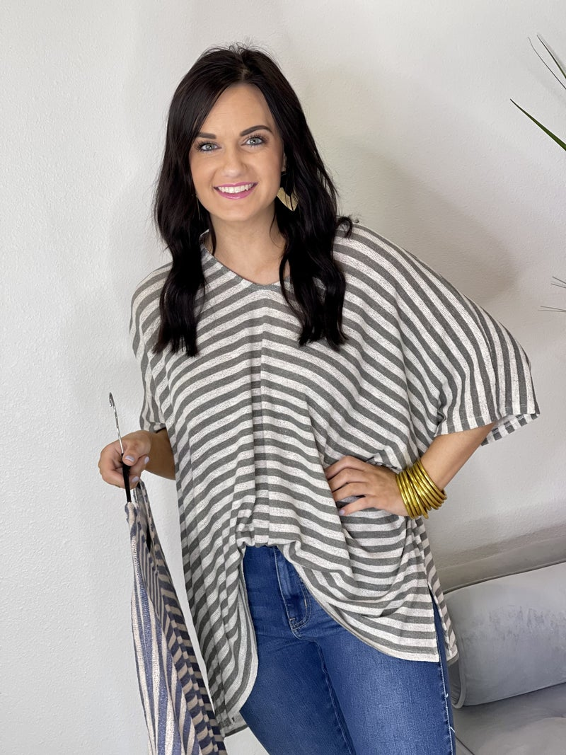 The Knox Knit Tops-All Sizes 2 Colors