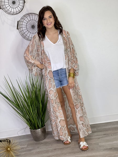 The Blush Slither Duster