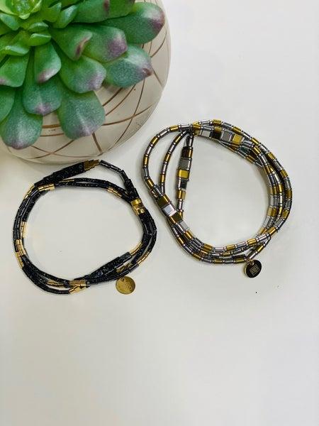 Lila Tile Wrap Bracelets