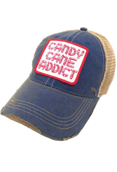 Blue Candy Cane Addict Hat