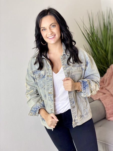 The Stars Out Denim Jacket in All Sizes