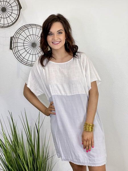 The Linen Block Dress