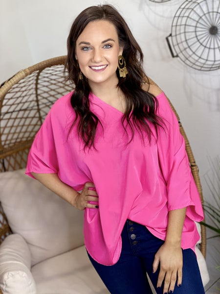 The Really Hot Pink Poncho Top